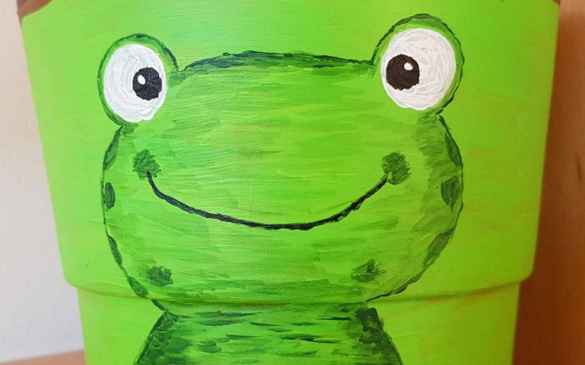 Frosch-Blumentopf