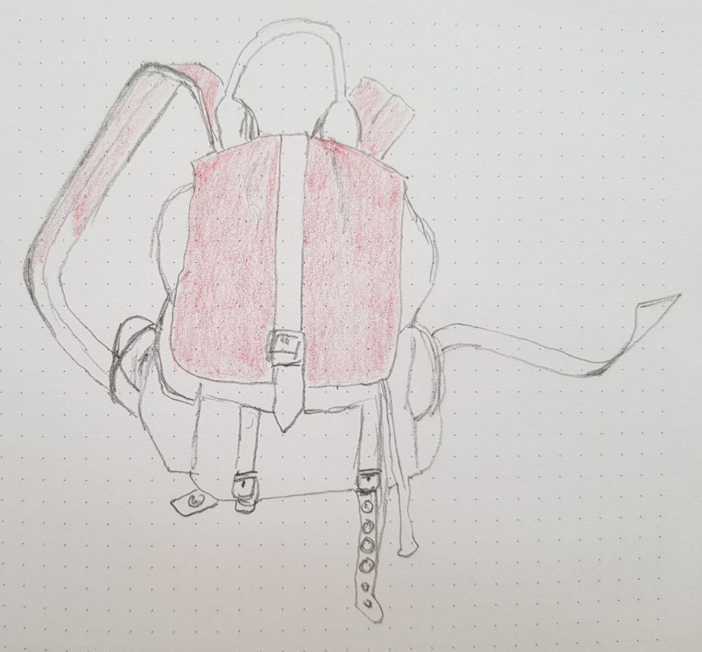Rucksack - Übung Negativraum