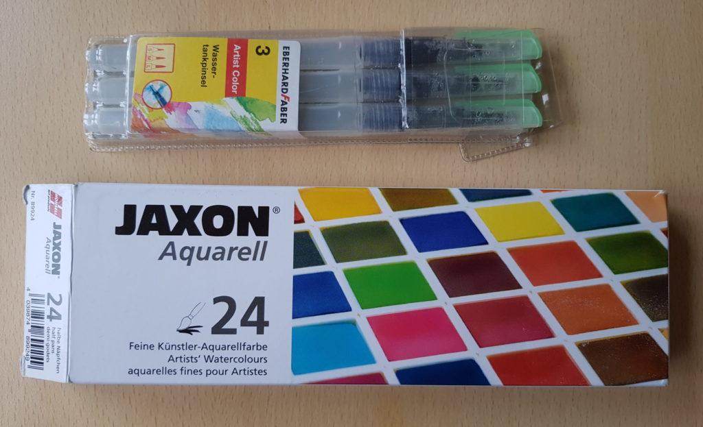Jaxon Aquarell + Pinsel