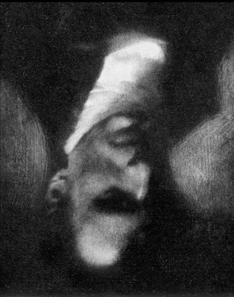 Selbstporträt Edward Steichen, am Kopf gestellt