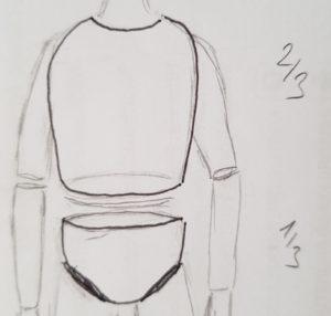Oberkörper und Becken