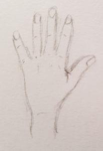Grundform linke Hand